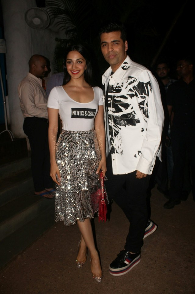Karan Johar and Kiara Advani at Lust Stories Success Bash