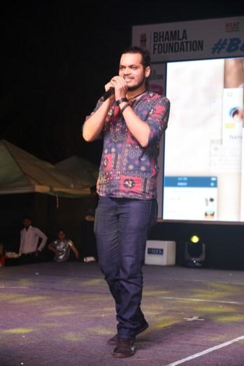 Rahul Mishra performs at Bhamla Foundation's World Environment Day celebrations at Carter Road