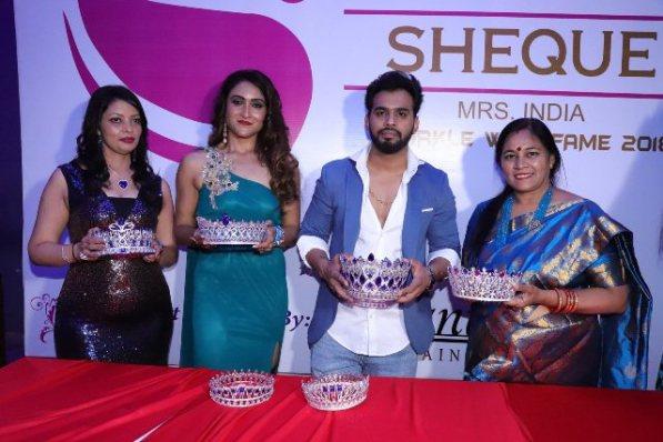 l-r Anjalli Rajput, Priyanka Pol. Karan Singh Prince and Babita Verma