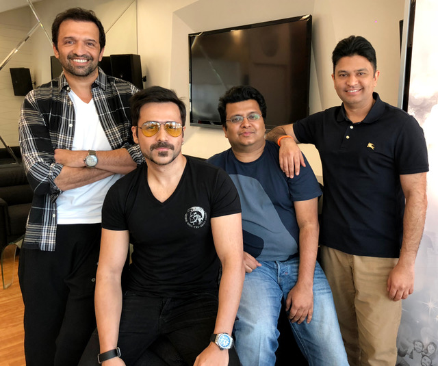 Emraan Hashmi with the crew of Cheat India