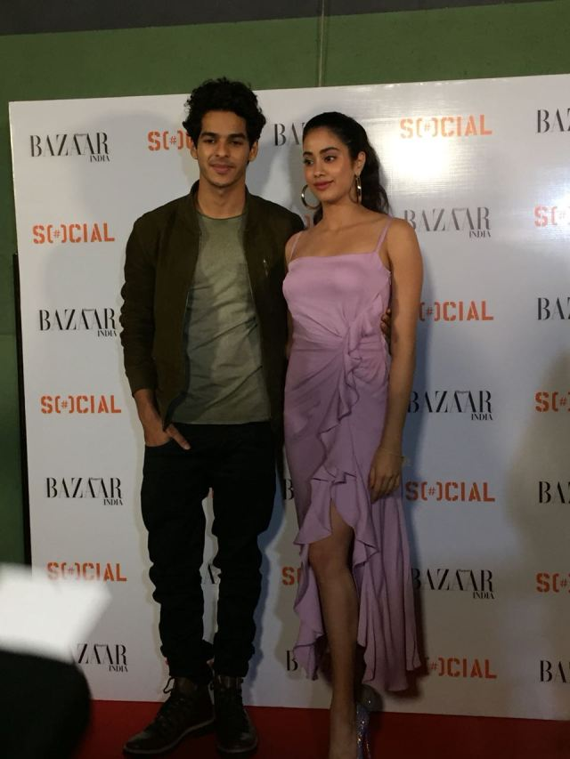 Ishaan Khatter and Janhvi Kapoor at the magazine cover launch of Harper Bazaar India
