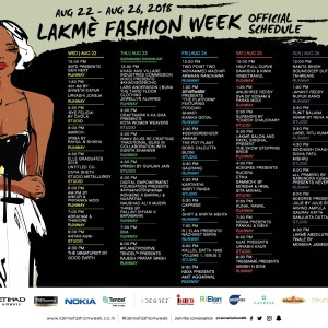 Lakme Fashion Week Winter Festive 2018 - Final Schedule