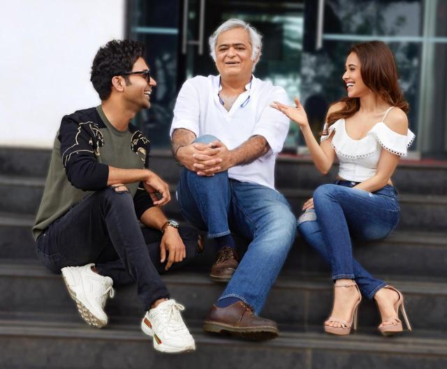 Hansal Mehta with Rajkummar Rao and Nushrat Bharucha