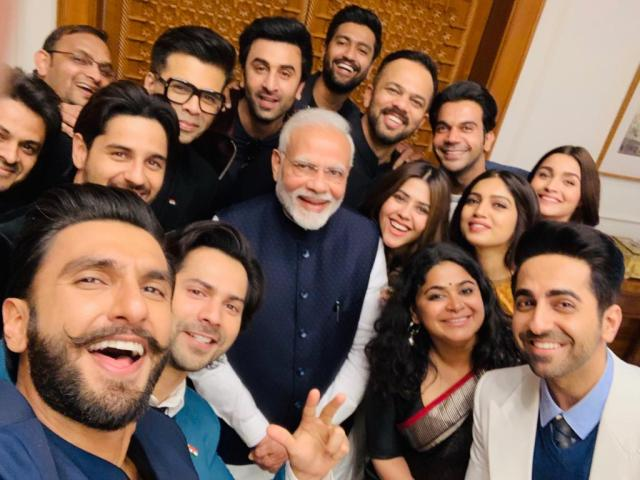 PM Narendra Modi with Bollywood celebs