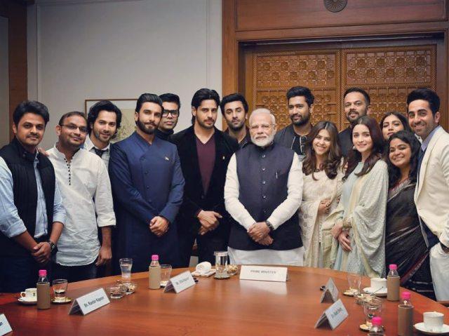 PM Narendra Modi with Bollywood celebs