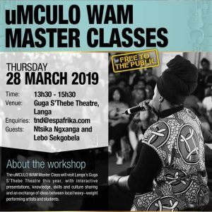 South Africa: A Music Master Class making its way to Langa This March