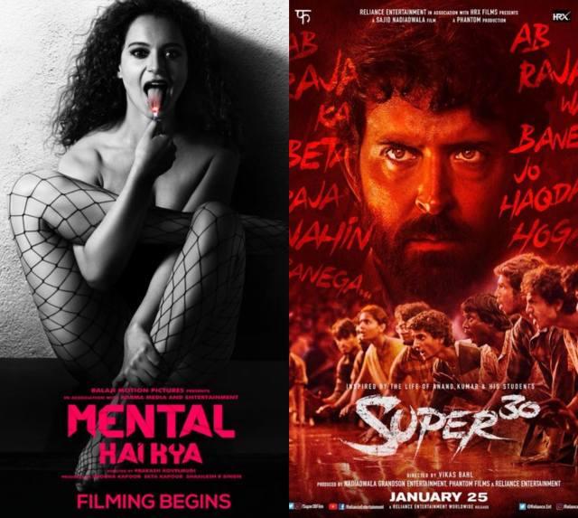 Kangana Ranaut's Mental Hai Kya And Hrithik Roshan's Super 30 To Clash At The Box Office