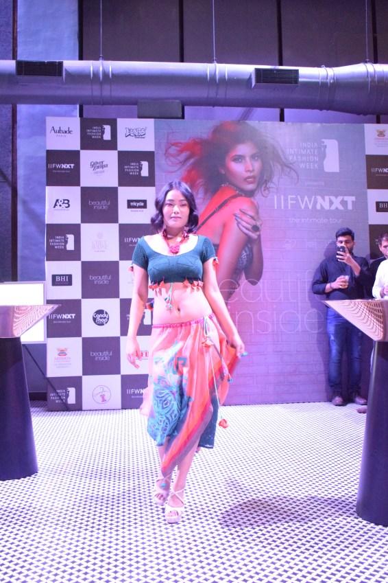 Models wearing designer Chhail Bihari Sharma and Maluaj Gangwar's beach wear line 'ABHISAR' (1)