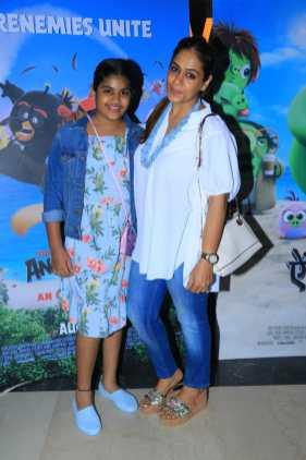 Poonam Goel with daughter