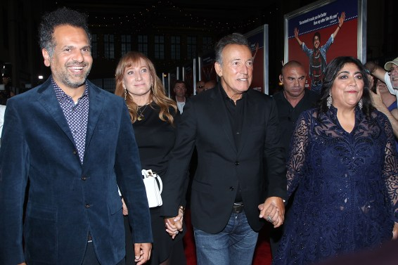 "- Asbury Park , NJ 8/7/19 - The Premiere of New Line Cinemas ""Blinded By The Light"" . ÊÊÊÊÊÊÊÊÊÊÊÊÊÊÊÊÊÊÊÊÊÊPictured: Sarfraz Manzoor ,Patti Scialfa , Bruce Springsteen ,Gurinda Chadher Chadha ÊÊÊÊÊÊÊÊÊÊ -Photo by: Dave Allocca/StarPix -Location: Paramount Theatre"