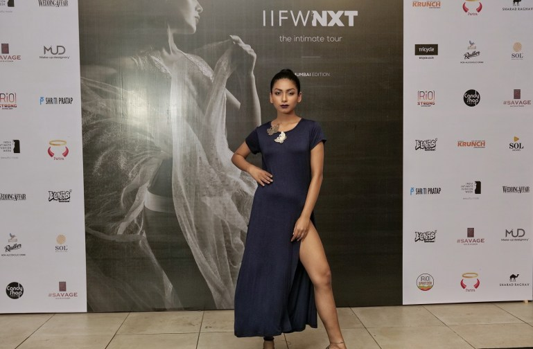 Models walk the ramp for designer Shriti Pratap at IIFW NXT-The Intimate Tour_Mumbai Edition (7)