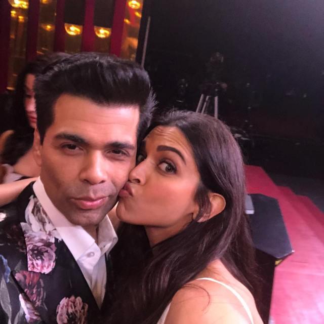 Deepika Padukone and Karan Johar