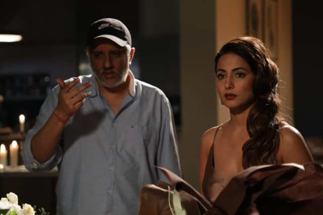 Vikram Bhatt with Hina Khan