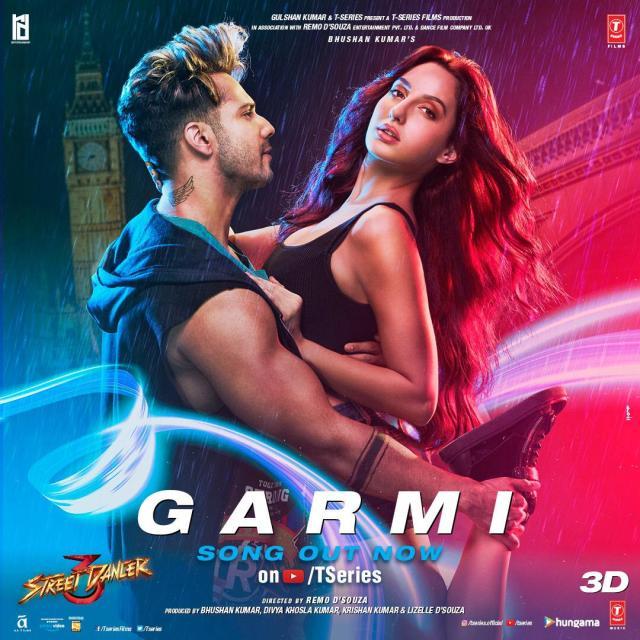 Varun Dhawan and Nora Fatehi in Garmi from Street Dancer 3D