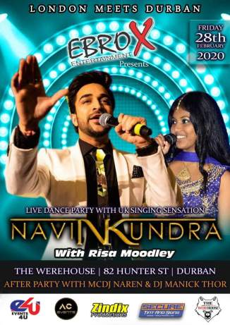 Ebrox Entertainment brings Navin Kundra Back to the South Africa!