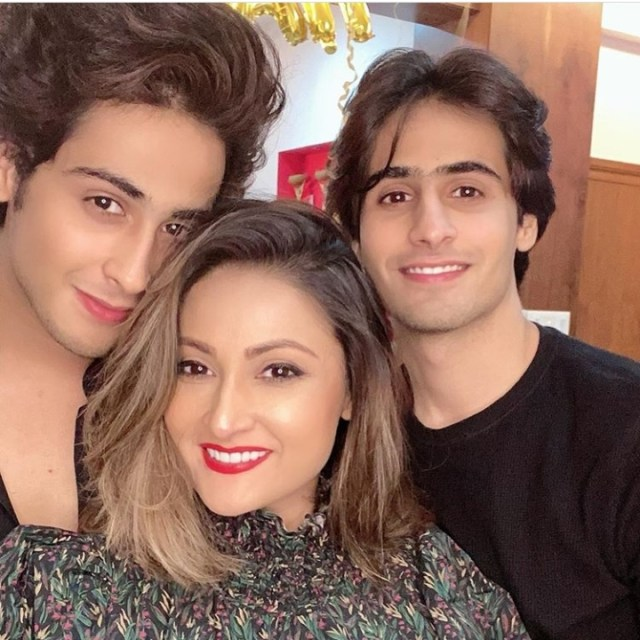 Urvashi Dholakia With Sons