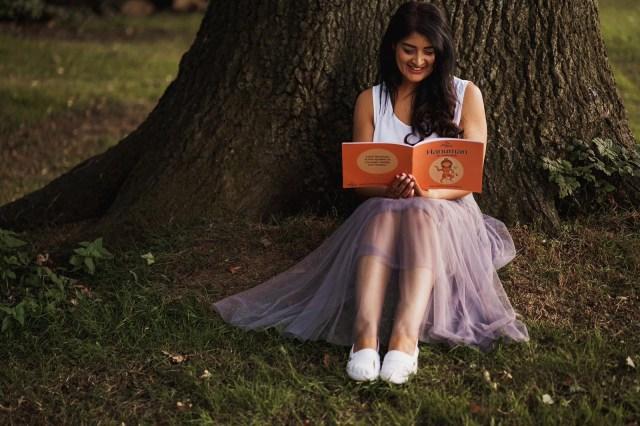 sunita shah reading a jai jai's book