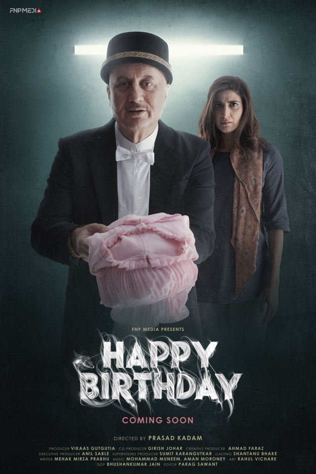 Happy Birthday' makers unveil first-look poster, featuring Anupam Kher, Aahana Kumra