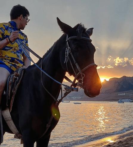 Pradhyuman on horseback
