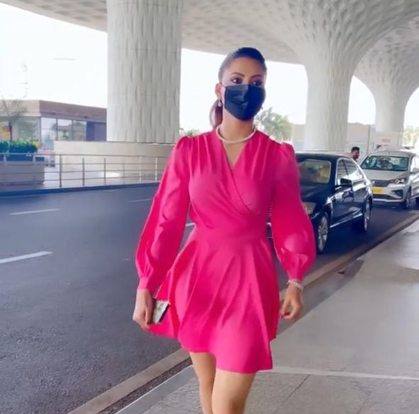 Urvashi Rautela's bright pink airport look is top-notch fashion efforts