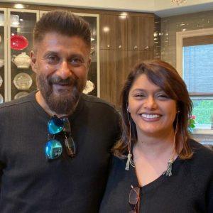 vivek and pallavi posing together