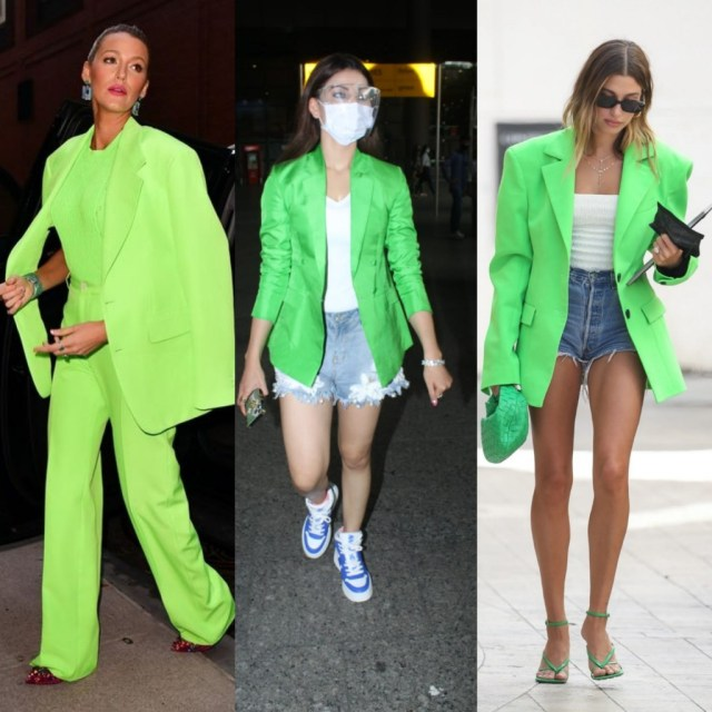 Urvashi Rautela brings back the Neon trend with Blake lively and Hailey Bieber