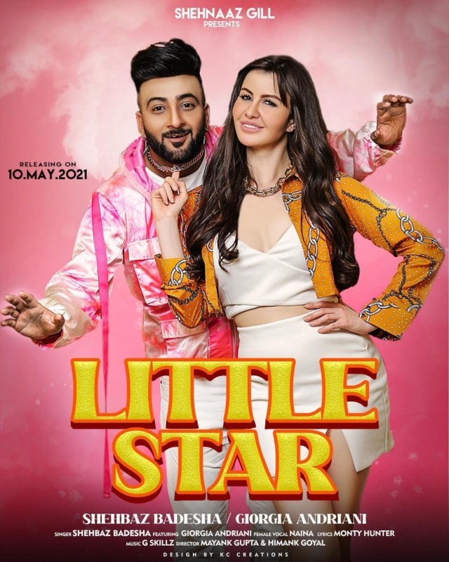 """Giorgia Andriani & Shehbaz Badesha revealed the poster of their upcoming song """"Little Star"""""""