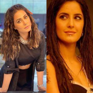 Hina Khan's bold look from #MainBhiBarbad has similarities to Katrina Kaif's look from 'Blue'