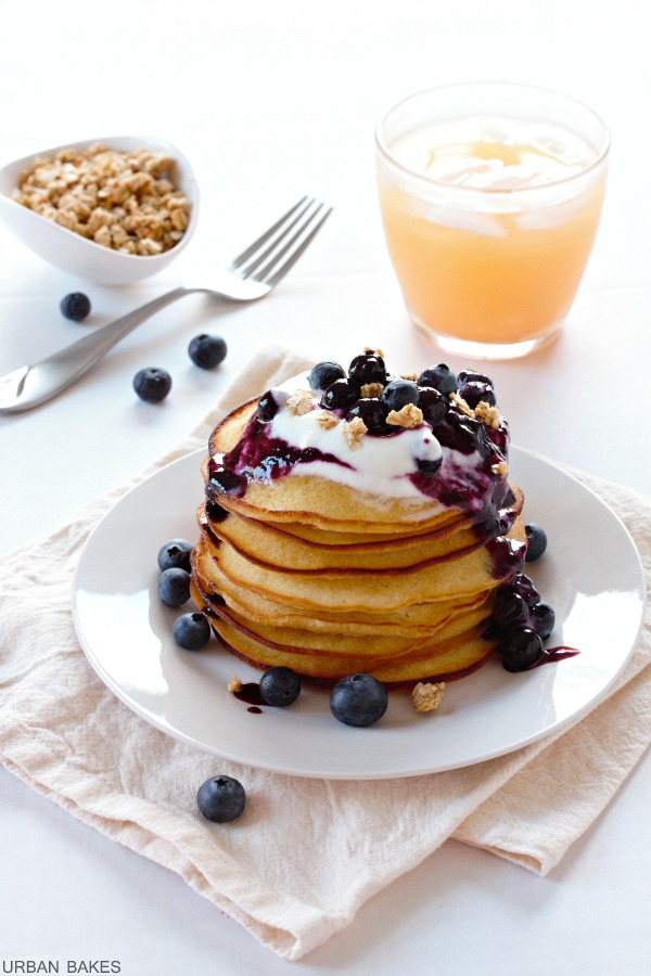Browned Butter Pancakes with Blueberry Compote | URBAN BAKES