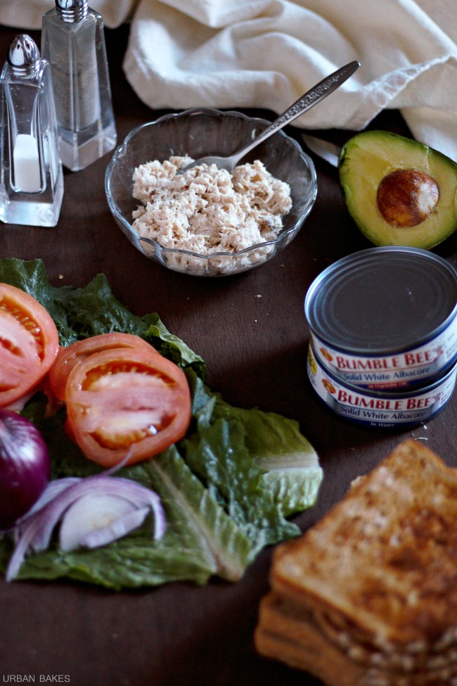 Tuna Avocado Sandwich | URBAN BAKES #BeeHealthy #CG