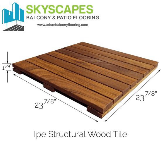Ipe Hardwood structural tiles