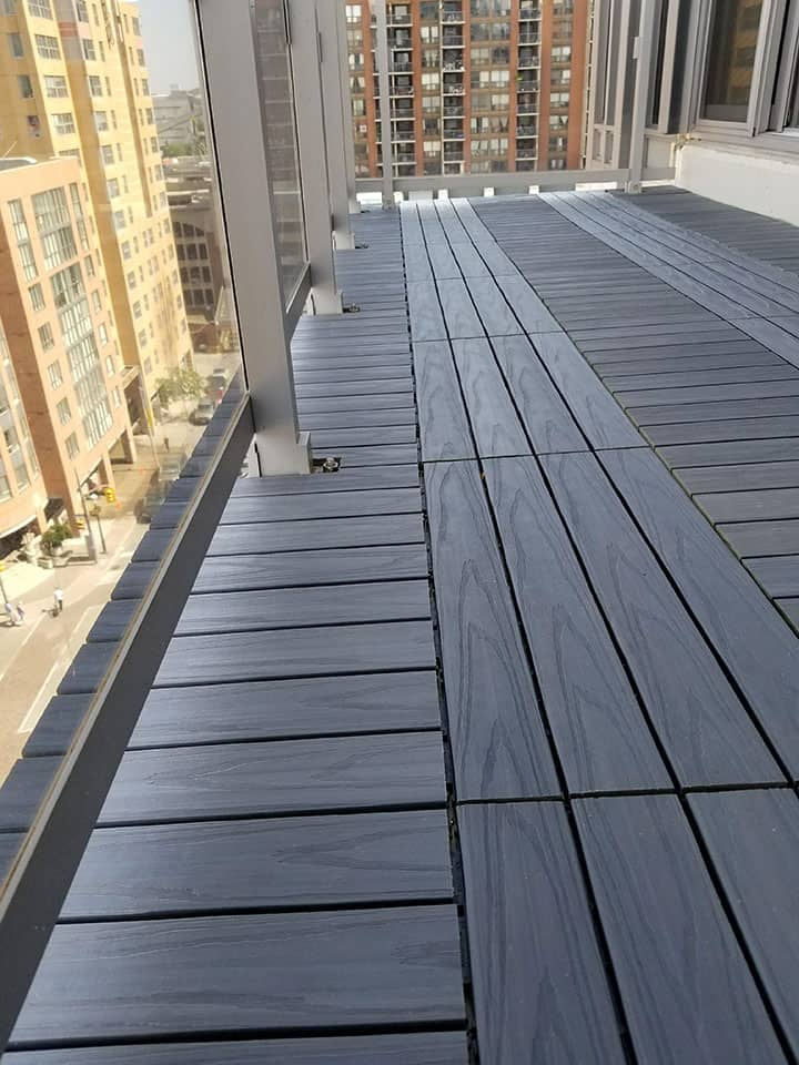 terrace flooring installation