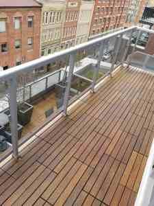 Ipe Deck Tiles for Outdoor Flooring Installation