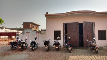 this is the hangar where Sunil Sir's bike was parked from past 9 months.