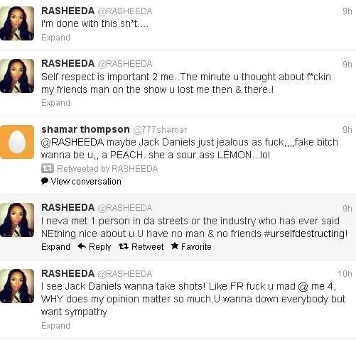 K. Michelle and Rasheeda Beef on Twitter, Rasheeda Exposes ... K Michelle And Memphitz Twitter Beef