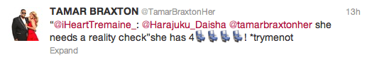 tamar braxton nicki minaj tweets