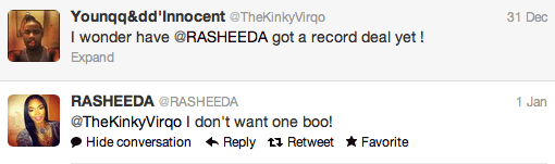 rasheeda record deal