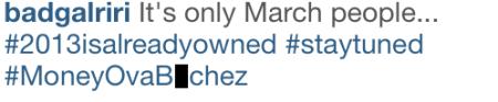 rihanna shades beyonce on instagram