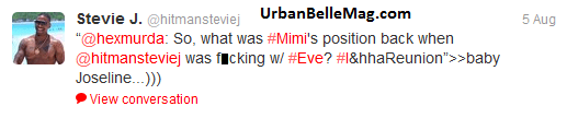 did stevie j cheat on eve with mimi 1