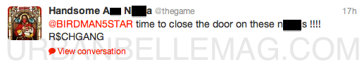 the game twitter