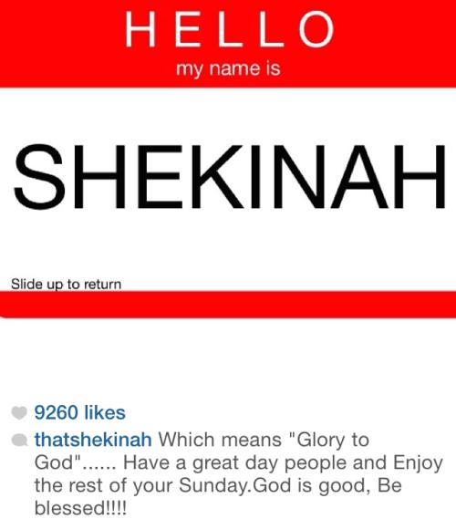 shekinah instagram