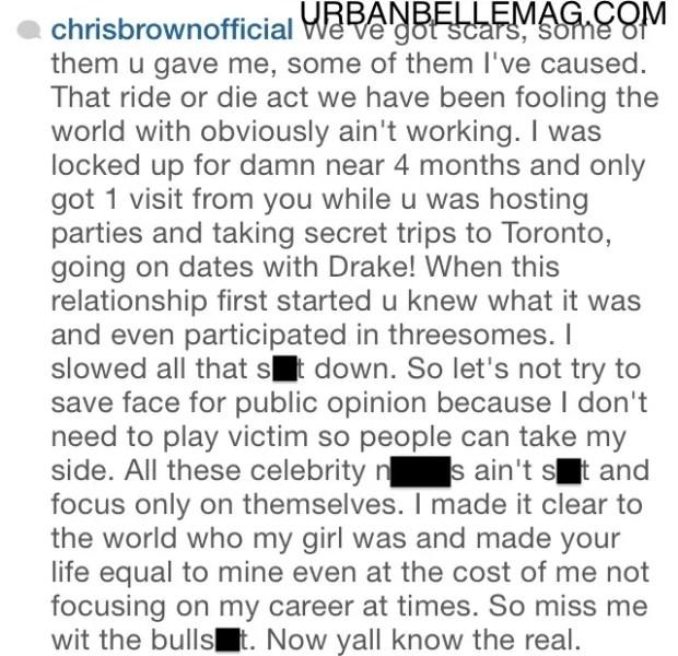 chris brown spills all the tea