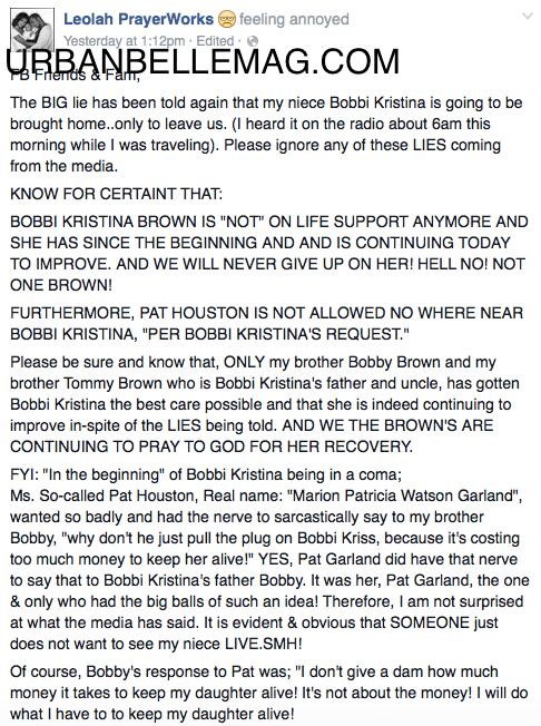 leolah brown facebook
