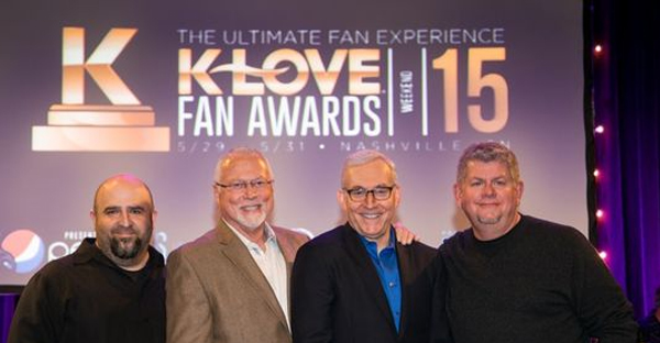 (Left to Right) K-LOVE Fan Awards Co-Creator and Producer John Sanders, K-LOVE President and CEO Mike Novak, TAPP Co-Founder and CEO Jon Klein and K-LOVE CCO David Pierce (Kurt Heinecke)
