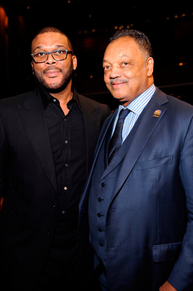 (l-r) Tyler Perry and Rev. Jesse Jackson