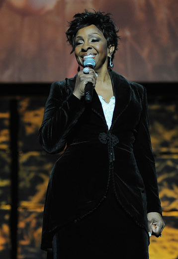 Singer Gladys Knight performs at the 16th Annual Super Bowl Gospel Celebration at ASU Gammage on January 30, 2015 in Tempe, Arizona. (Photo by Marcus Ingram/Getty Images for Super Bowl Gospel)