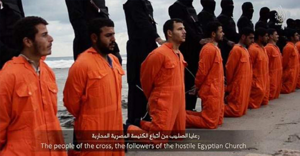 ISIS has reportedly beheaded 21 captured Egyptian Christians, releasing a video showing the mass beheading.