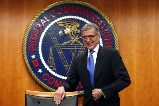 Federal Communications Commission Chairman Tom Wheeler arrives at the Net Neutrality hearing in Washington on Thursday. PHOTO: REUTERS