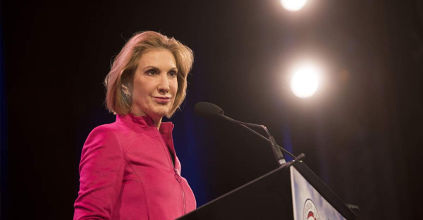 Carly Fiorina, former chairman and chief executive officer of Hewlett-Packard Co., during the Iowa Freedom Summit in Des Moines, Iowa on Jan. 24, 2015. (Daniel Acker—Bloomberg/Getty Images)