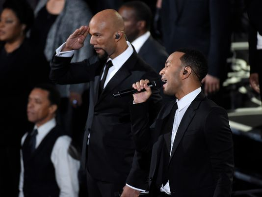 """Common and John Legend perform """"Glory"""" at the Academy Awards. The """"Selma"""" anthem won for best original song. (Photo: Robert Deutsch, USA TODAY)"""